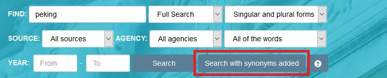 Picture of synonym search button.